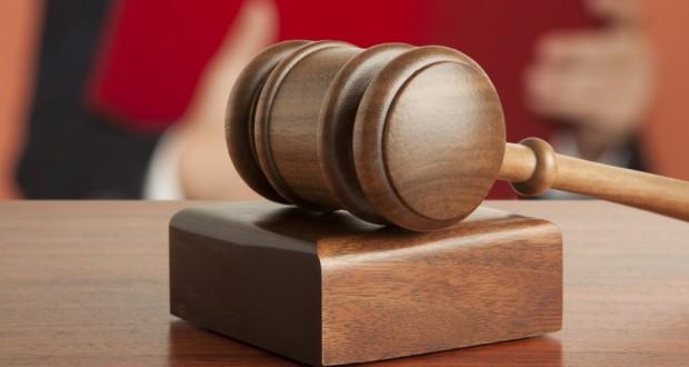 Δικαστής, σφυρί. δικαστική απόφαση