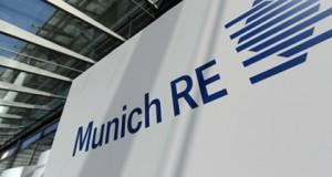 Munich Re, επιγραφή, κτίριο