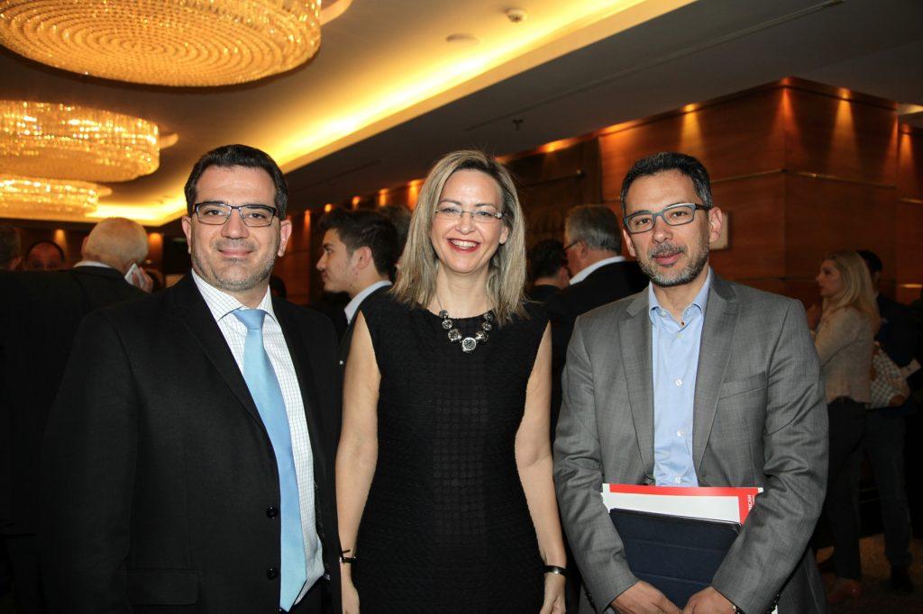ο κ. Ηλίας Μάλιος (Αριστερά), η κα Νάντια Σταυρογιάννη, και ο κ. Γιάννης Καντώρος