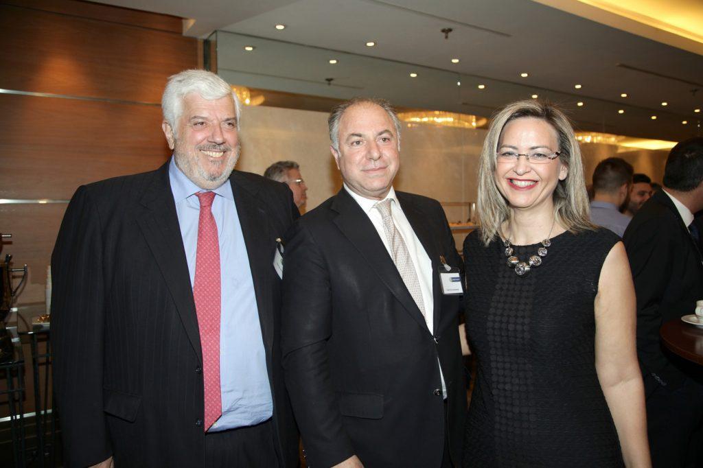 ο κ. Γεώργιος Κώτσαλος, ο κ. Γεώργιος Καραβίας και η κ. Νάντια Σταυρογιάννη