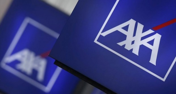 AXA λογότυπο πινακίδα