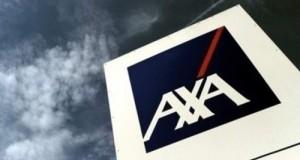 axa, λογότυπο, γκρίζος ουρανός