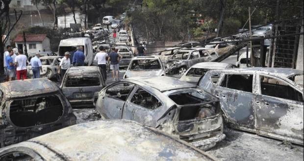 Καμένα οχήματα, Μάτι, πυρκαγιά, ταυτοποίηση καμένων