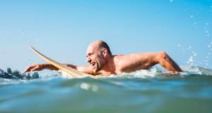 κολύμβηση με σανίδα, άσκηση, θάλασσα, παραλία